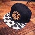 2016 Весна и Лето Мода One Piece Snapback Хип-Хоп Шапки шляпа Для Мужчин Женщин Спортивные Регулируемые Луффи Бейсболка Шляпа Кости