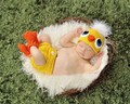 Free shipping,Unisex Cute Baby Infant Boys and Girls Chicken Hat Shoes Costume , Newborn Photography Props 0-3 Months