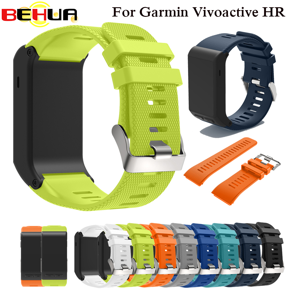 Sport Silicone Strap For Garmin Vivoactive HR Wrist Strap Bracelet Strap Band For Garmin Vivoactive HR Replacement Band Bangle