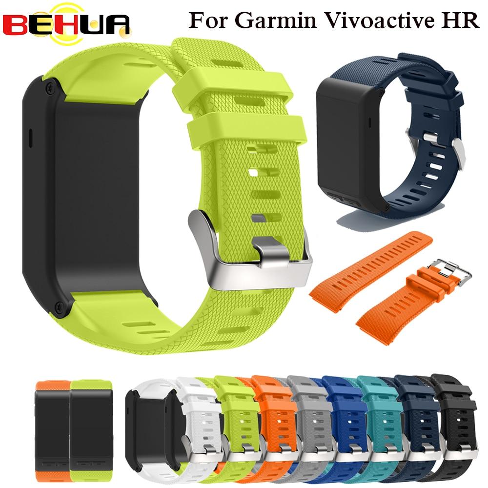 Sport Silicone Strap For Garmin Vivoactive HR Wrist Strap Bracelet Strap Band For Garmin Vivoactive HR Replacement Band Bangle