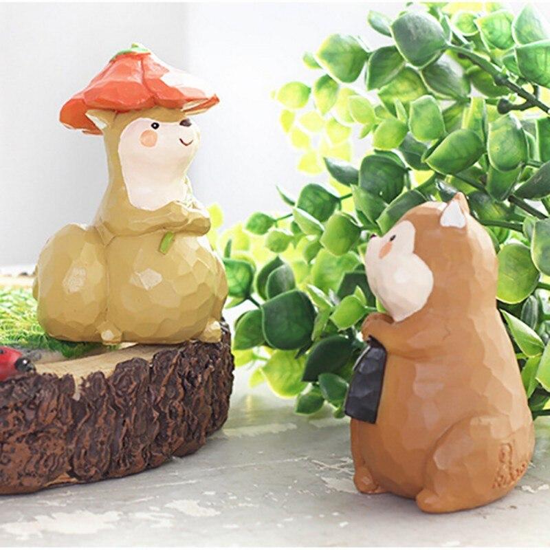 New micro landscape mini resin animal miniature garden for Jardin miniature