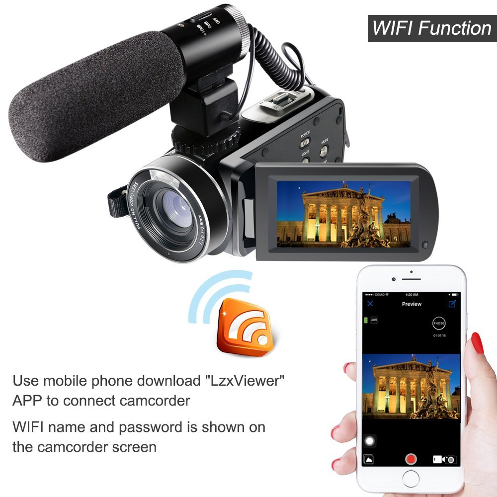 Full HD 1080P 30FPS Wifi Camcorder Portable Digital Video Camera - Kamera dan foto - Foto 5