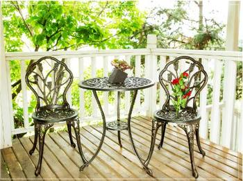 Outdoor tables and chairs sets villas garden leisure balcony cast aluminum tables and chairs set