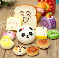 2016 12PCS Lot Random Sent Kawaii Squishies Lots Cupcakes Panda Bun Toasts Multi Donuts Squishiy