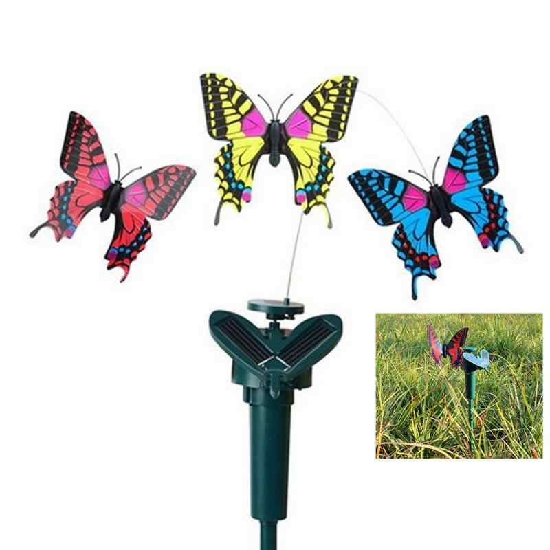2018 New Creative Vibration Solar Power Dancing Flying Fluttering Butterflies Hummingbird Garden Decorative Stake