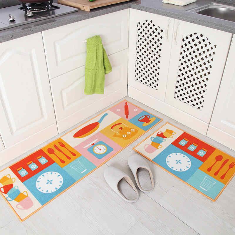 Длинный кухонный коврик для ванной коврик для пола Придверный коврик для дома коврик для ванной комнаты абсорбирующий коврик для спальни гостиной современный коврик на кухню