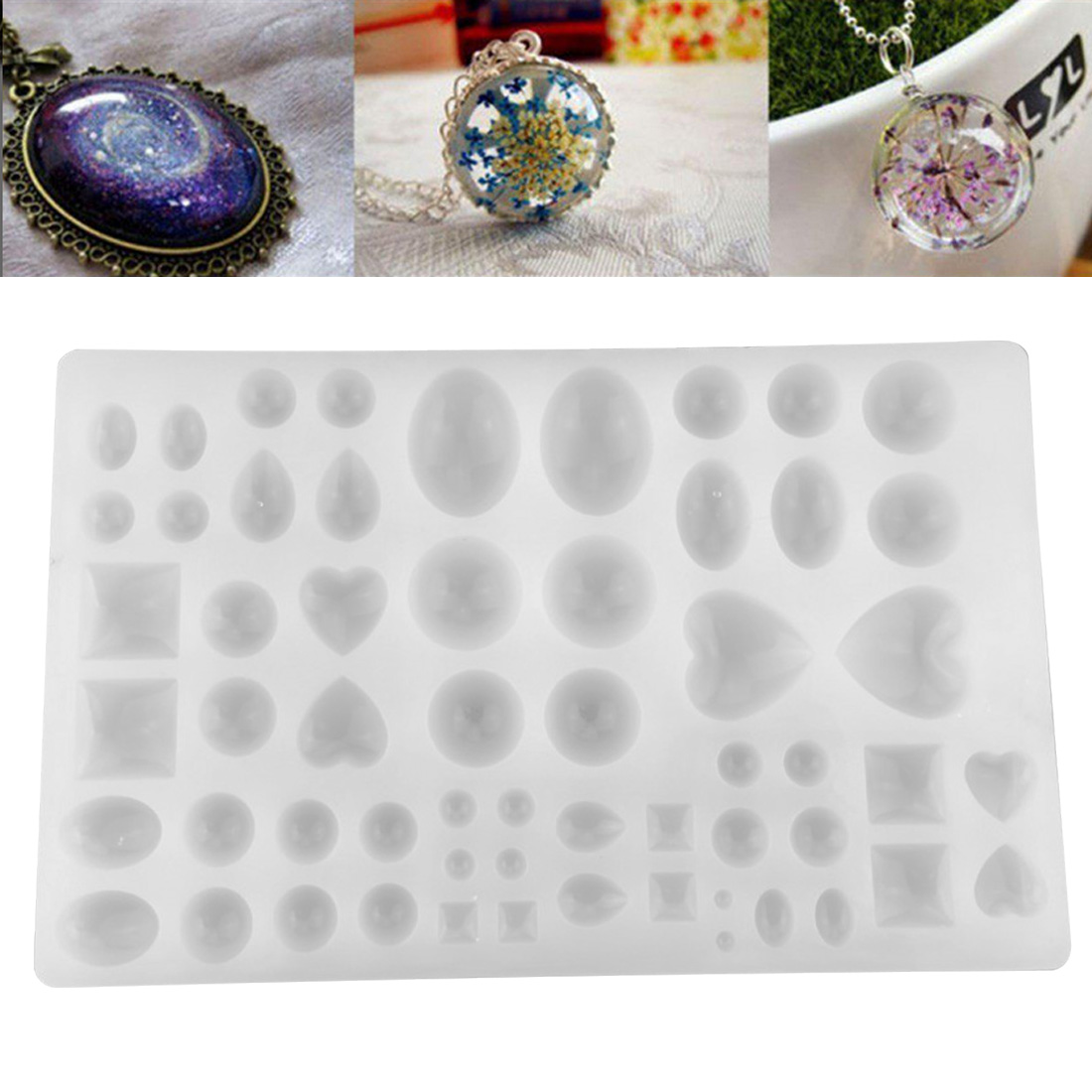 Silicon Mold Mould Many Kinds Of Diamonds DIY handmade Ear Studs Pendant Epoxy transparent silicone mould in Jewelry Tools Equipments from Jewelry Accessories
