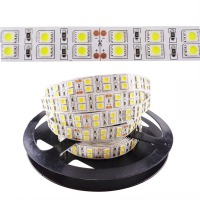 Super High brightness 2 rows LED Strip 600 leds 5050 SMD LED Stripe RGB 120leds/m 12V DC 5m none waterproof warm white IL