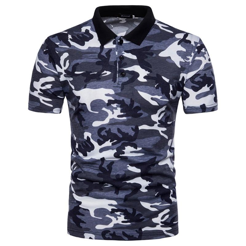Idopy Mens Camo   Polo   Shirts 2018 Male Short Sleeve Casual 3 Buttons   Polo   Slim Classic Camouflage   Polos   Men   Polo   Shirt