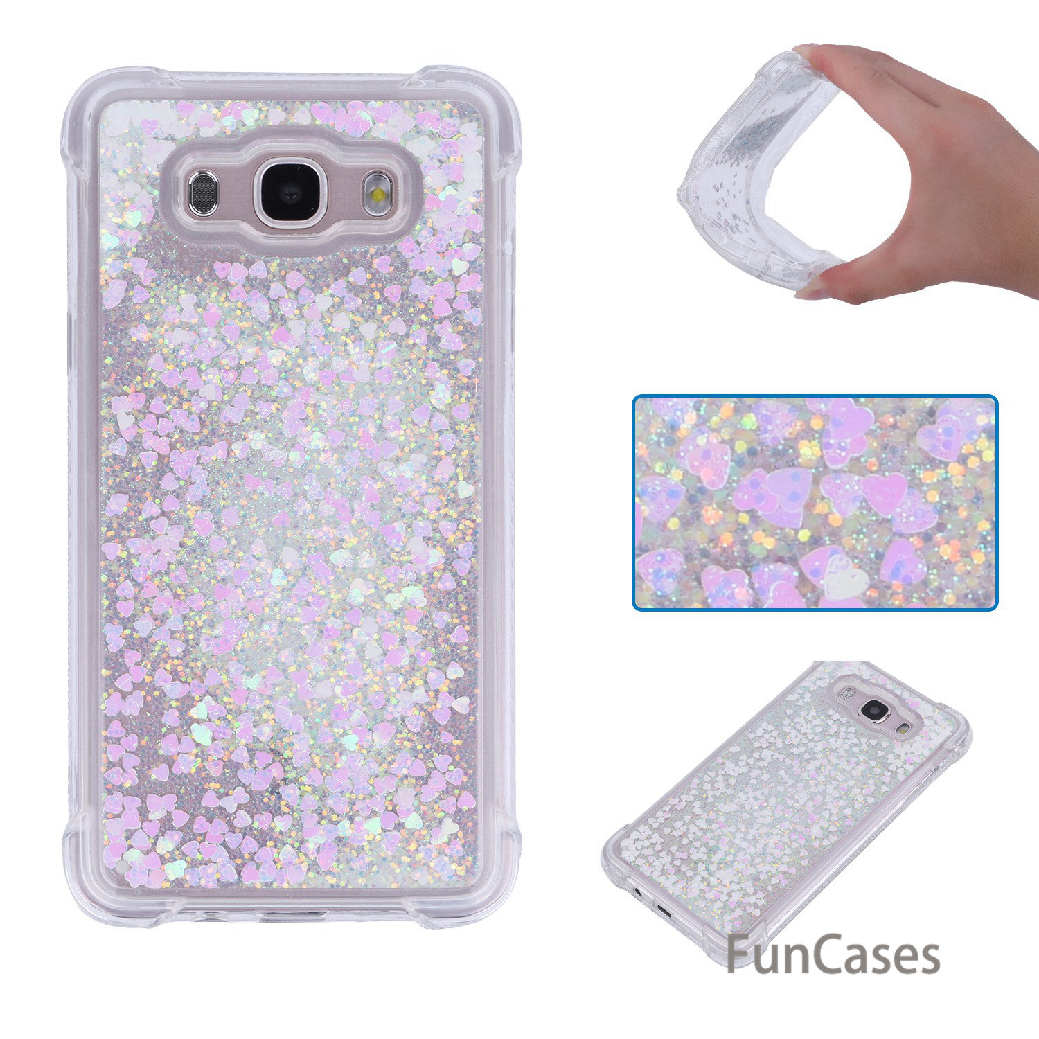 Sparkle Case sFor Aksesuar Samsung J510 Soft Silicone Back Cover Carcasa Sports Half Wrapped Case sFor Samsung Galaxy J5 2016 ...