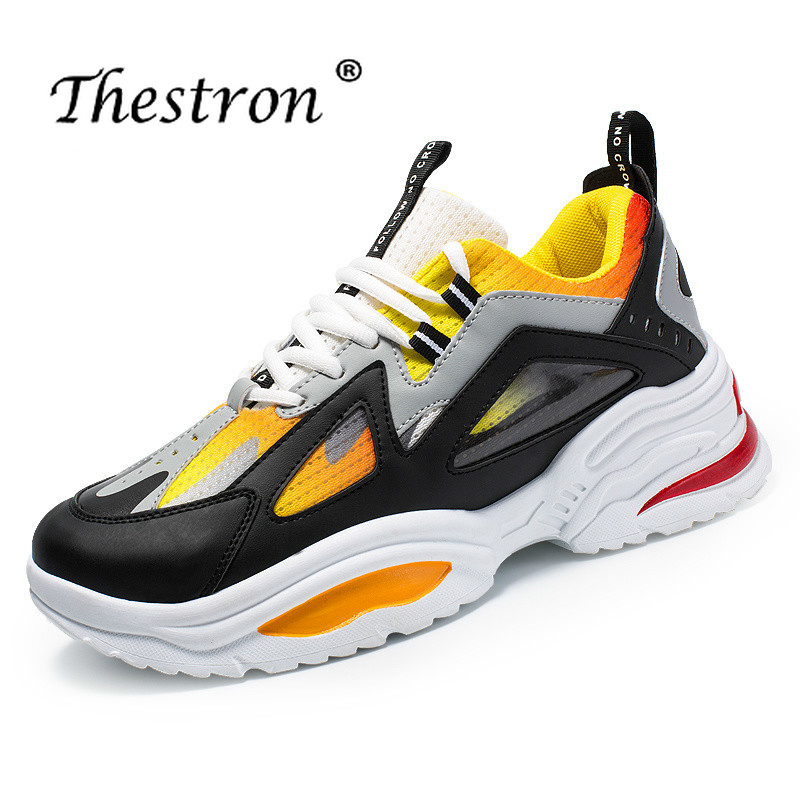 Thestron Sport Shoes Quality Sneakers Mens Running Shoes Sport Mens Spring Anti-slip Jogging Shoe Men Black Lace Up Trainers Men