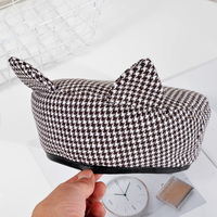 berets caps for women lolita hatFashion Houndstooth womes hats berrets spring french chapeau femme boinas para mujer Gorras