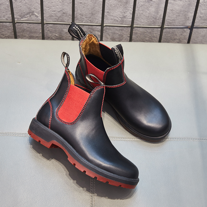 ZSAUAN Plus Size 36 44 Men 39 s Chelsea Boots Casual Unisex Shoes Spring Autumn Black Leather Ankle Booties Women Chukka Boots in Chelsea Boots from Shoes