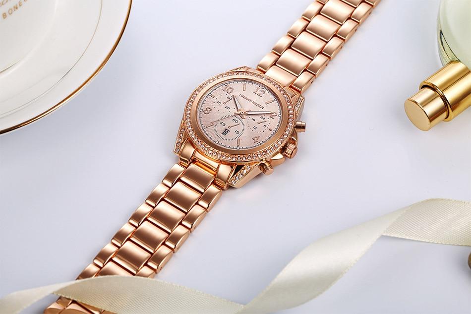 Luxo Relógios Senhoras De Cristal Relógio de