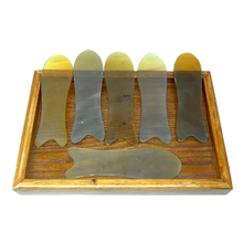 25 pieces/lot Wholesale & Retail Face Beauty Health Massage Guasha Fish Board 100% yellow Ox Horn Good quality!