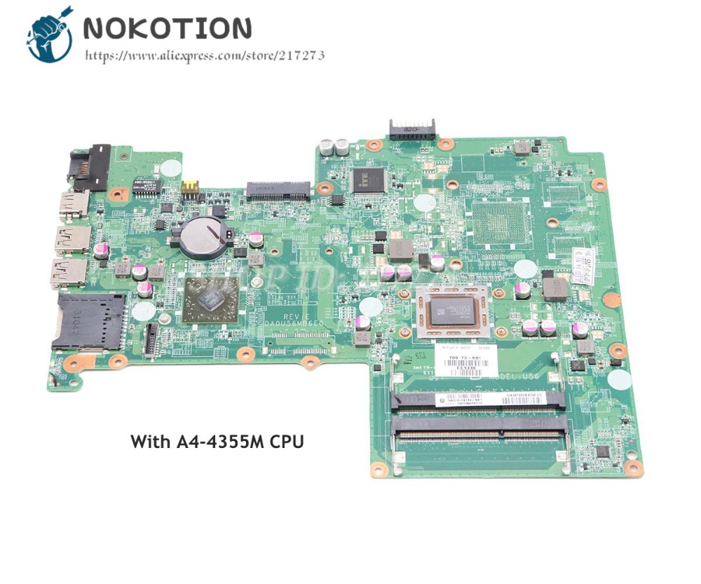 NOKOTION For HP Pavilion 15 15-B Laptop Motherboard A4-4355M CPU DDR3 709173-501 709173-001 MAIN BOARD Full Tested