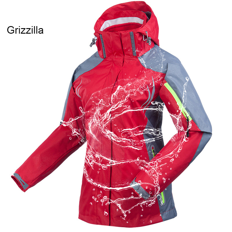 Grizzilla Women S Winter 3 In 1 Waterproof Breathable Reflective Jackets Outdoor Sports Windproof Thermal Hiking