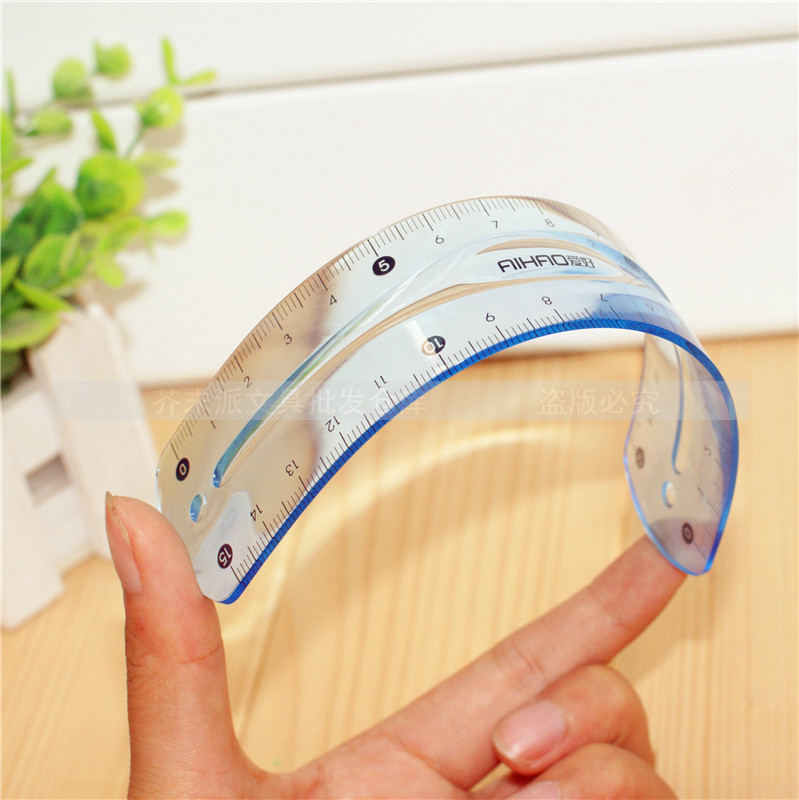 1Pcs/Lot  7514 soft ruler Double scale infinite bending 15 cm students ruler  free  shipping