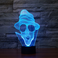 Export Novelty  Kids Room Led Led Night Light Electronic Products Creativity 3d Night Light 7 color Touch led Visual 3d Light