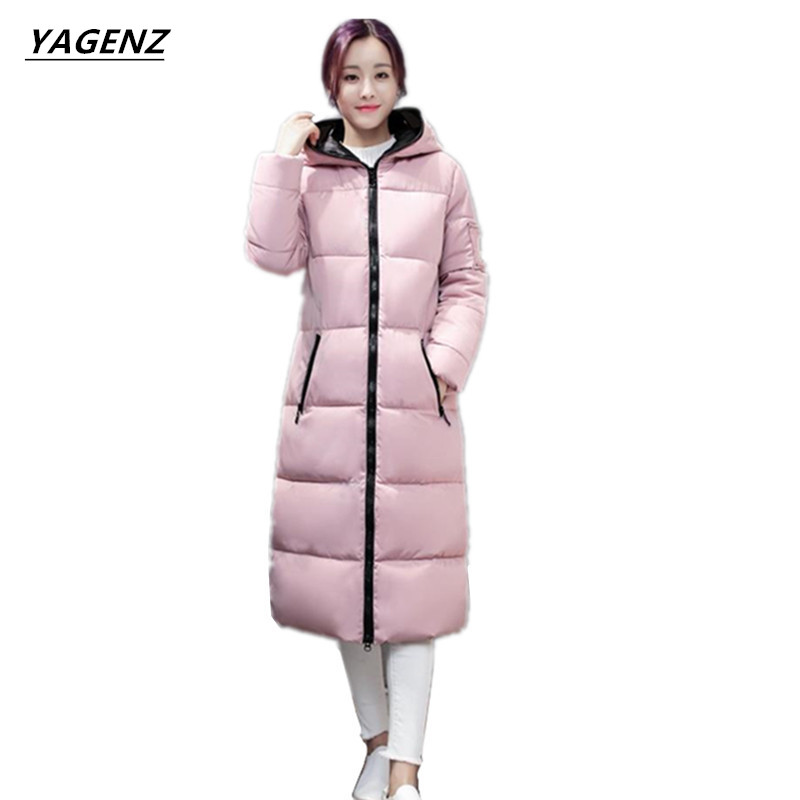 2017New Winter Coat Long Cotton-padded Clothes Female Costume Thick Down Cotton Jacket Plus Size 3XL Women  Outerwear YAGENZ A12 long coat womens jacket new printing was thin down cotton padded thick coat windbreaker
