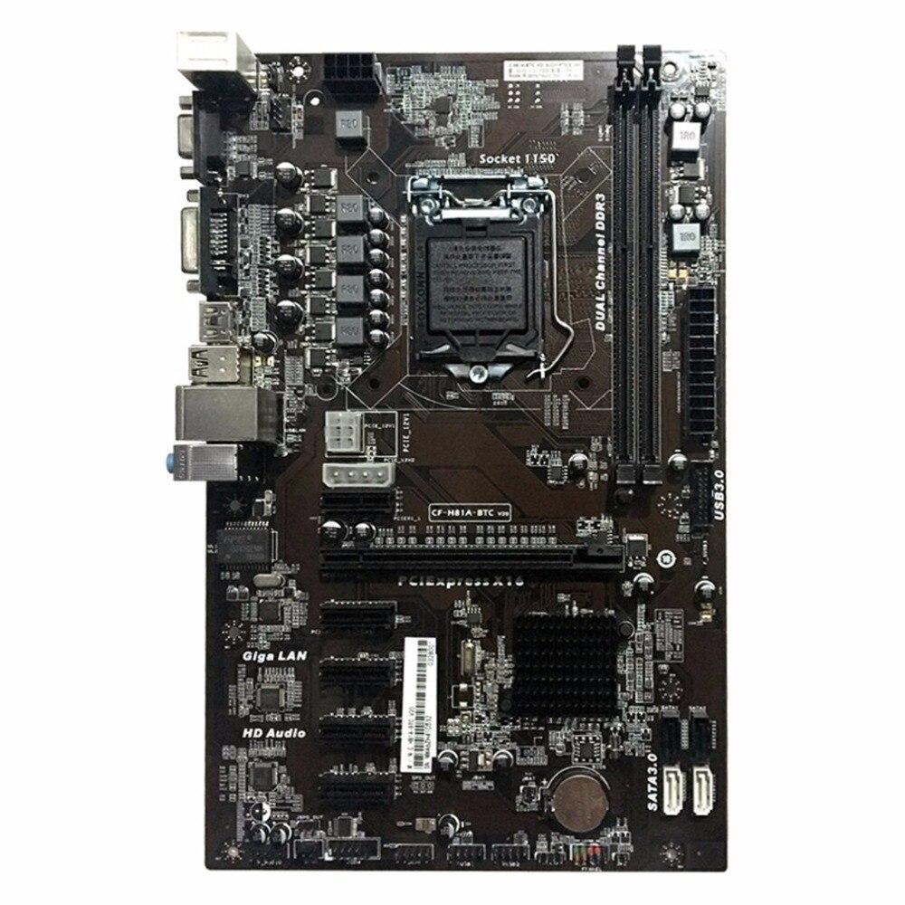 Motherboard H81A BTC V20 Miner ATX Board LGA1150 Socket Processor Not LGA1155 Intel DDR3 H81 Mainboard For MiningMotherboard H81A BTC V20 Miner ATX Board LGA1150 Socket Processor Not LGA1155 Intel DDR3 H81 Mainboard For Mining