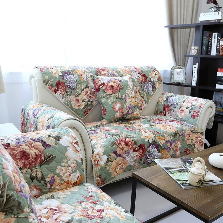 Aliexpress.com : Buy 1 piece Sofa Cover Pastoral Flower
