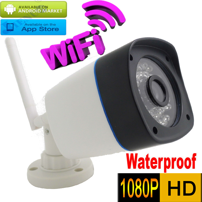 1080P ip camera wifi 2mp Wireless Waterproof Onvif H.264 IR Night Vision HD cctv system security mini surveillance cam HD kamera h free shipping hd 1080p waterproof bullet ip camera wifi wireless outdoor surveillance camera onvif security ir night vision