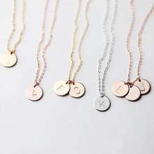 Letters Disk Necklace Handmade Rose Gold Choker 10mm Pendant Kolye Collares Jewelry Riverdale 925 Sterling Silver Collier Femme