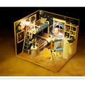 Star Dream Wooden Doll House with Furniture, Handmade DIY Dollhouse Miniature Toys for Children's Birthday Gift Free Shipping