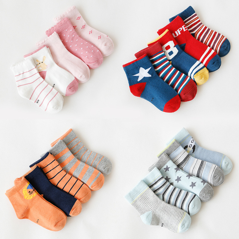 5pairs/lot 2019 new  Spring and autumn children socks baby cotton socks 1-12years children socks5pairs/lot 2019 new  Spring and autumn children socks baby cotton socks 1-12years children socks