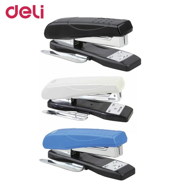 Deli 0326 12 Manual Office School Metal Stapler Bookbinding Stapling Papers Stationery Binding Supplies