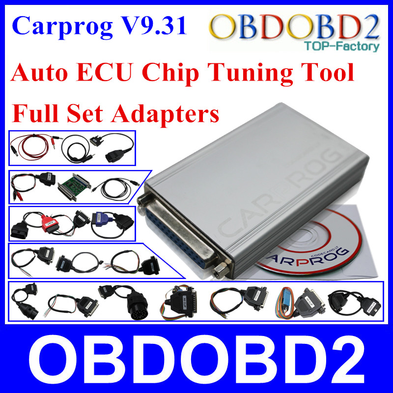 ФОТО Auto Repair Tool Carprog Car Prog V9.31 With Full 21 Adapters For Radio Odometer Dashboard Immobilizers ECU Chip Tuning Tool