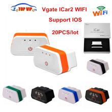 50pcs/lot DHL Free Vgate iCar2 WiFi ELM 327 V1.5 OBD2 Auto Scanner Diagnostic-Tool For iOS/Android PC with Retail Box