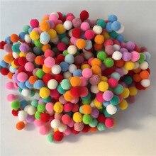 600pcs/lot 8mm Pompom Multicolor Soft Pom Poms Balls Fur Plush Ball DIY Handcraft Wedding Party Decoration Accessories