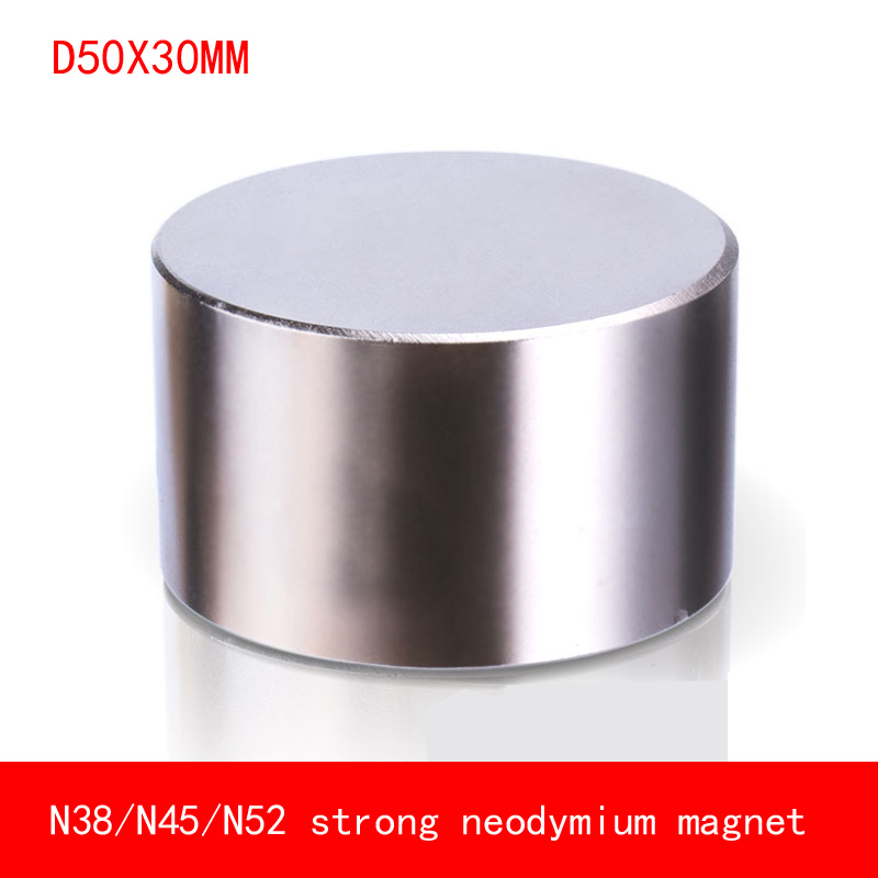 1 pcs Néodyme aimant 50x30mm N52 Super strong ronde Rare Earth NdFeb N38 50*30mm plus forte permanent puissant magnétique