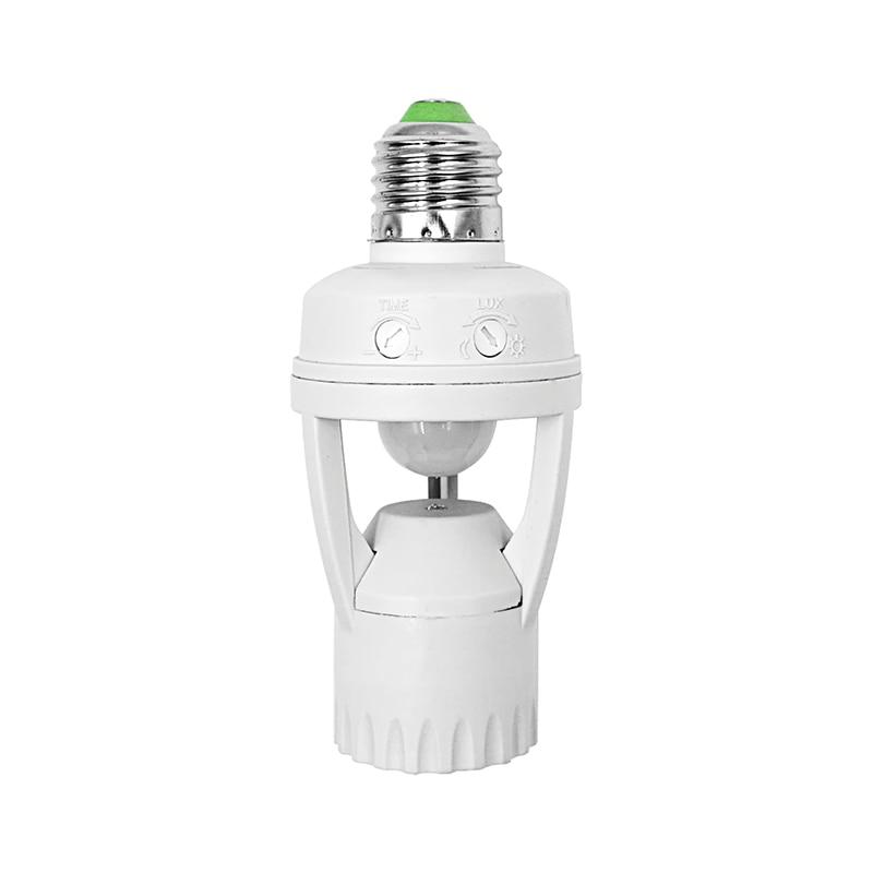 Induction Infrared Motion Sensor LED lamp Base Holder E27 230V 110V LED Bulb Holder For Stair Hallway Light 360 Degree MAX60W