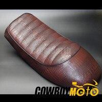 Universal Motorcycle Vintage Cafe Racer Seat Retro Saddle For Honda CB CL Retro Cafe Racer CB200 CB350 CB400 CB500 CB550 CB750