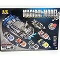 Modelo em escala 4CH do RC do carro Montagem De Metal Veículo kit modelo de Construção DIY brinquedos educativos, Bloco De Metal carro do controle de rádio brinquedo