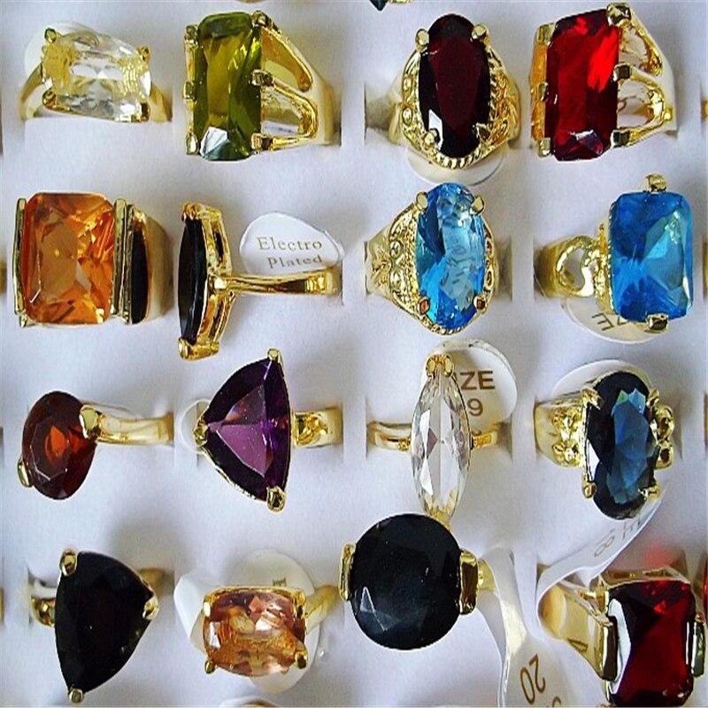 QianBei-anillos de diamantes de imitación de resina verde y negro para mujer, joyería de moda para mujer, 20 uds. Al por mayor, gran oferta, 2018