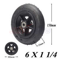 6x1 1/4 tyre 6 Inch Pneumatic Tire Motorcycle 150MM Scooter Inflation Wheel With Hub With Inner Tube Electric Scooter tire