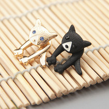 цена на Japan and South Korea is a new wholesale jewelry earrings Cute cute vivid animal kitten female stud earrings earrings