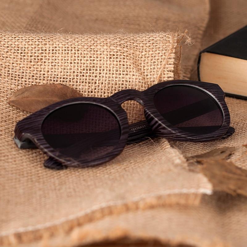 1f657b0ba81b4 BOBO CG009 PÁSSARO Artesanal de Madeira de Imitação Roxo preto Óculos De Sol  Das Mulheres Óculos