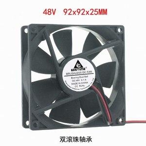 Image 3 - DC12V 24 V 48 V 2pin 9225 9 cm 90mm 92*92*25 double roulement à billes silencieux ventilateur de refroidissement sans brosse