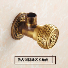 LF36018E-G1/2*G1/2 Antique100% Garantee Brass Accessories Angle Valve for Washbasin/Water Heater/Kitchen /  Angle Valves