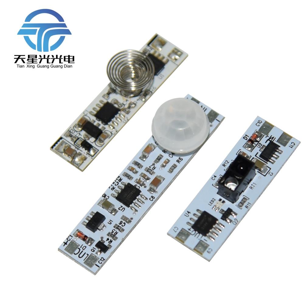TXG DC12-24V Mini Sensor táctil ultrafino/sensor de barrido manual/interruptor de módulo de sensor de movimiento para todo tipo de luces led