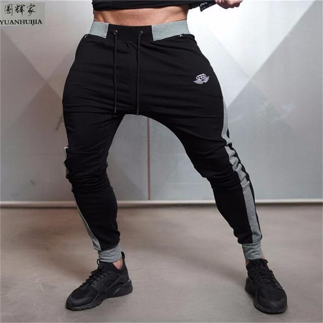 2017 Men's AthleticPants Workout Cloth Sporting Active Cotton Pants Men Jogger Pants Sweatpants Bottom Legging