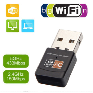 Image 2 - Wifi אות מקלט usb אלחוטי רשת כרטיס 600Mps dual band נייד מתאם משדר usb רשת מתאם wifi כרטיס