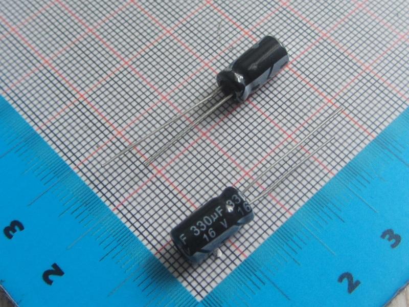 50 Pcs lot Kualitas Tinggi Dip Aluminium Kapasitor Elektrolit 16 V 330 UF  6.3 12 Mm 8 12 MM Electrolytic Kapasitor 330 UF 54b6379baf