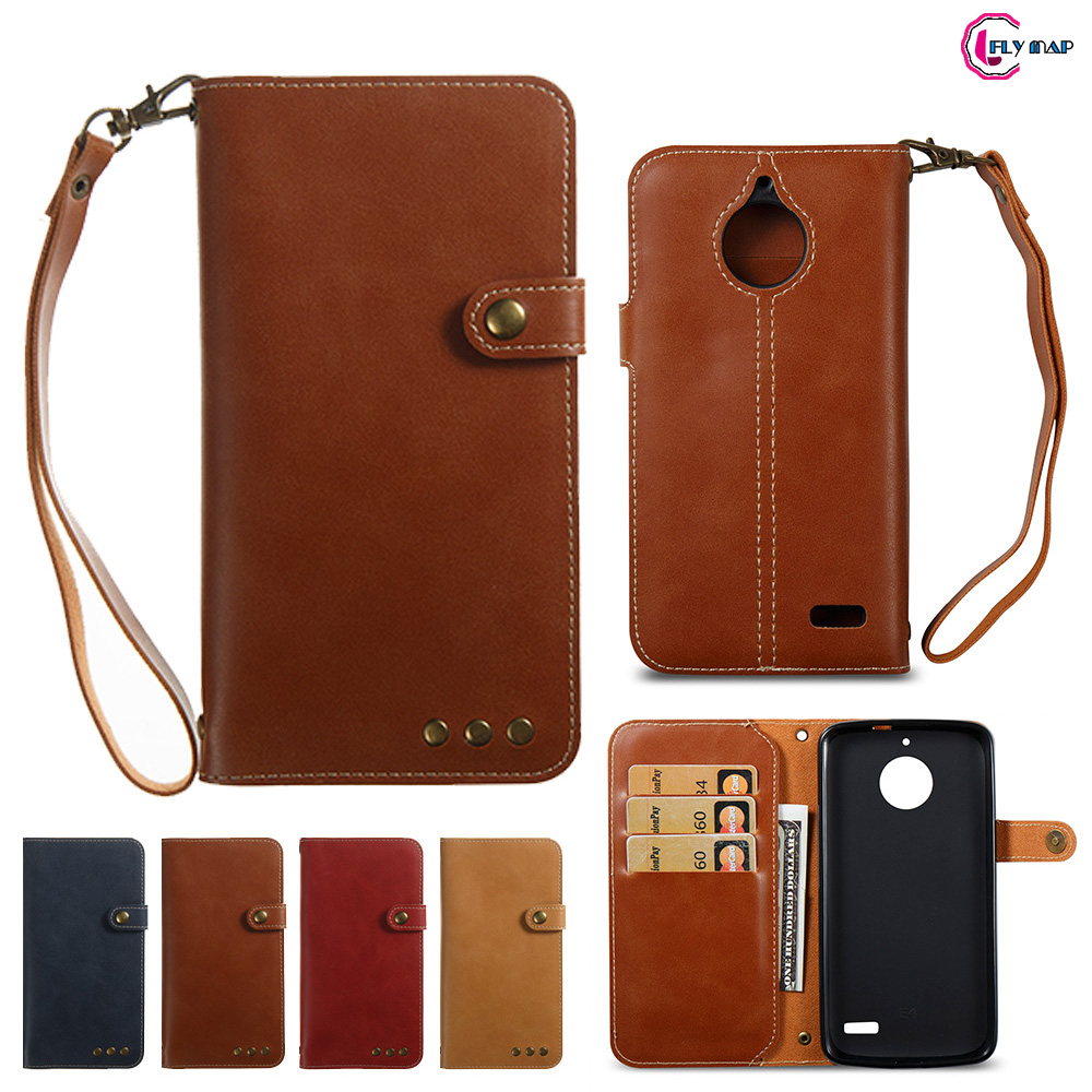 Soft Coque Case for Motorola Moto E4 E 4 XT1760 XT1769 case Retro Flip Wallet PU leather Cover for Moto E Gen 4th XT1768 XT1767