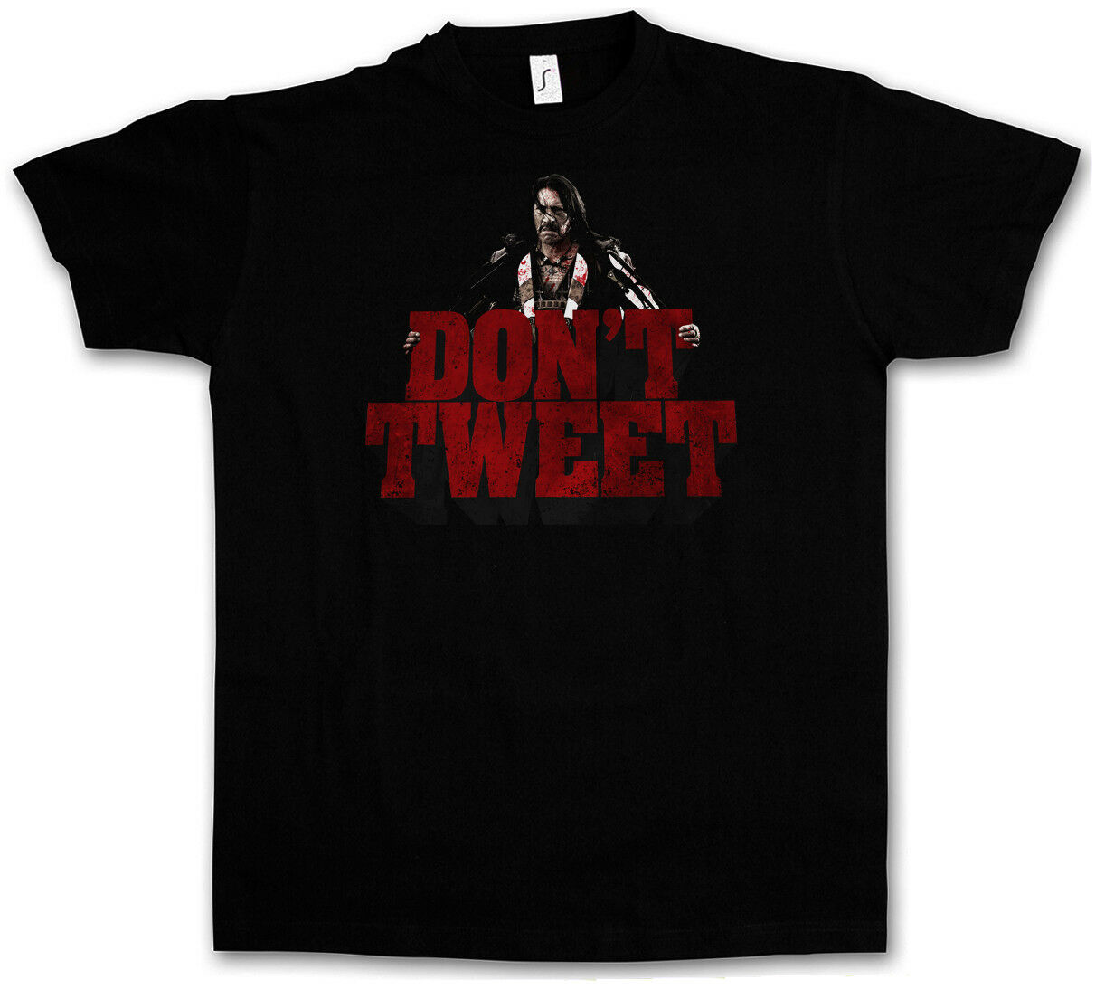 MACHETE DON?T TWEET T-SHIRT - Kills Again Rodriguez Trejo in Space Movie T-Shirt image